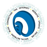 Nuvem nova da palavra do Internet Imagens de Stock
