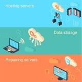 Nuvem pública de intercâmbio de dados protegido Fotografia de Stock