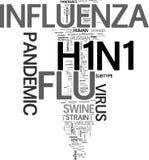 Nuvem pandémica da palavra do vírus H1N1 ilustração royalty free