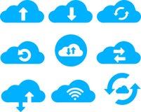 A nuvem presta serviços de manutenção à coleção do ícone do clipart Imagens de Stock Royalty Free