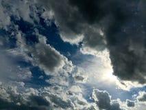 Nuvem preta antes da chuva Imagens de Stock