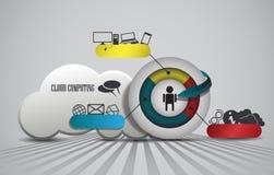Nuvem que computa, elemento infographic Imagens de Stock
