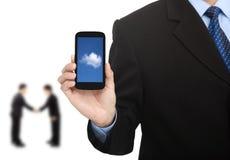 Nuvem que computa no telefone esperto Foto de Stock Royalty Free