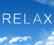 A nuvem relaxa Fotografia de Stock Royalty Free