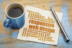 Nuvem responsiva da palavra do design web Fotografia de Stock