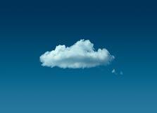 Nuvem só no céu azul fotos de stock royalty free