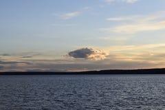 A nuvem só Imagem de Stock Royalty Free