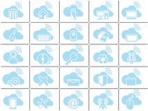 Nuvem simples do ícone Fotos de Stock