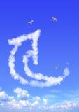 Nuvem sob a forma da seta Fotos de Stock Royalty Free
