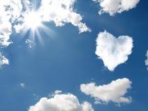A nuvem sob a forma do coração Imagem de Stock Royalty Free