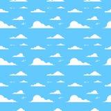 Nuvem sobre o teste padrão sem emenda do céu azul do fundo ilustração stock