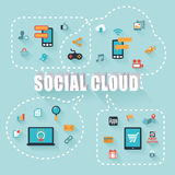 Nuvem social Foto de Stock Royalty Free