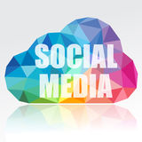 Nuvem social dos media Fotografia de Stock Royalty Free