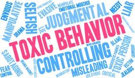 Nuvem tóxica da palavra do comportamento ilustração do vetor