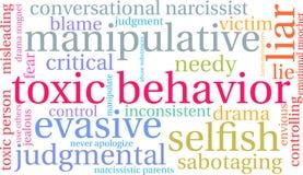 Nuvem tóxica da palavra do comportamento ilustração stock