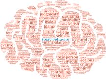 Nuvem tóxica da palavra do comportamento ilustração royalty free