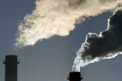 Nuvem tóxica perigosa do CO2 fotografia de stock