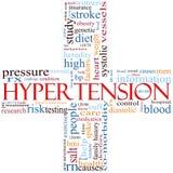 Nuvem transversal da palavra da hipertensão Foto de Stock