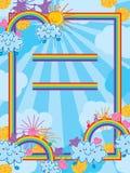 A nuvem traz a arco-íris o quadro ingênuo do arco-íris ilustração royalty free