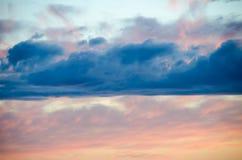 Nuvem vermelha Foto de Stock Royalty Free