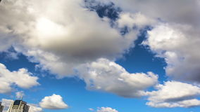 Nuvens ásperas, timelapse video estoque