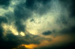 Nuvens. Foto de Stock