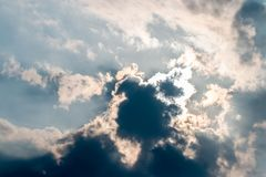 Nuvens abstratas do fundo, as escuras e as tormentosos Imagem de Stock