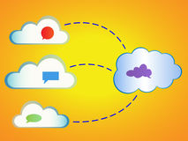 Nuvens abstratas que computam Imagens de Stock