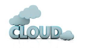 nuvens 3d ilustração royalty free