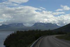 Nuvens acima de Lapporten Fotografia de Stock Royalty Free
