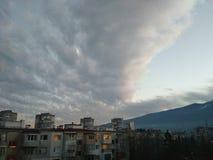 Nuvens agradáveis Fotos de Stock