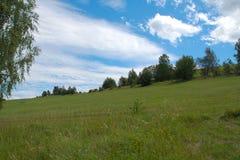 Nuvens agradáveis Fotografia de Stock
