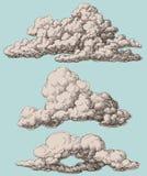 Nuvens ajustadas ilustração stock