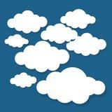 Nuvens ajustadas isoladas Conceito moderno criativo Ilustração do vetor das nuvens fotografia de stock
