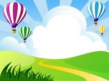 Nuvens, balões ilustração royalty free