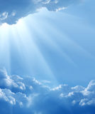Nuvens bonitas Fotografia de Stock