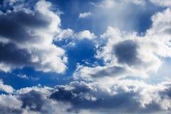 Nuvens bonitas Imagens de Stock