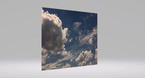 Nuvens bonitas contra um fundo do céu azul Céu da nuvem Céu azul com tempo nebuloso, nuvem da natureza Nuvens brancas, céu azul e video estoque