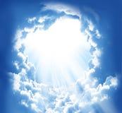 Nuvens bonitas da fantasia fotografia de stock