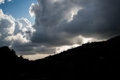 Nuvens bonitas em Líbano 2019 fotografia de stock