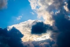 Nuvens bonitas em L?bano 2019 imagem de stock royalty free