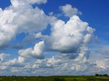 Nuvens brancas Foto de Stock