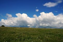 Nuvens brancas! Imagem de Stock