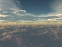 Nuvens brancas bonitas ilustração do vetor