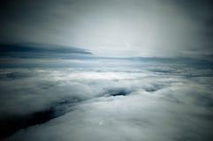Nuvens brancas calmas Fotos de Stock Royalty Free