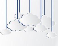 Nuvens brancas do vetor Imagens de Stock