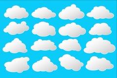 Nuvens brancas e cinzentas simples com espaço para o clipart do texto Imagens de Stock