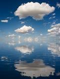 Nuvens brancas grandes Imagens de Stock Royalty Free