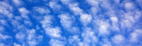 Nuvens brancas redondas Fotos de Stock