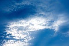 Nuvens cinzentas no céu Fotos de Stock